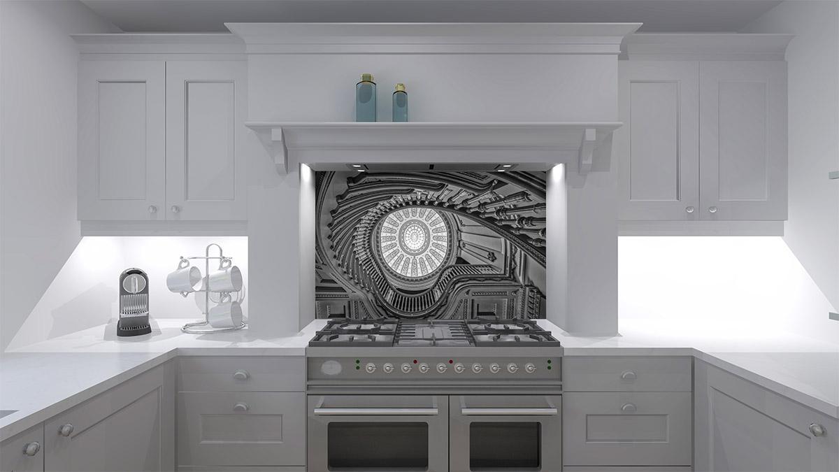 I See Greyscale Kitchen Splashback Kitchensplashbacks